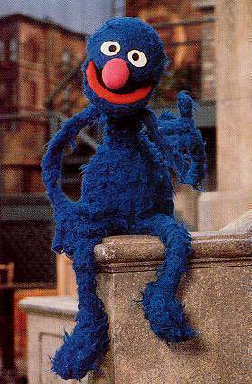 Grover sitting