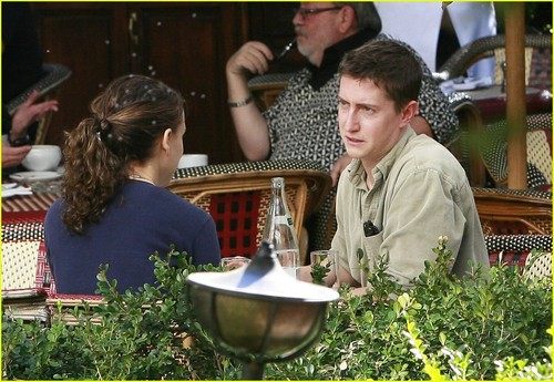 Having lunch at महल, शताब्दी, chateau Marmont with David Gordon Green, LA ,January 16th 2009