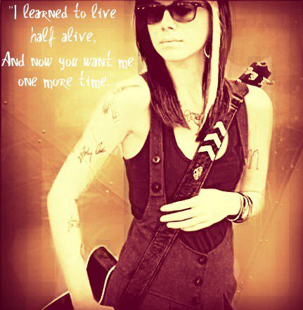 I learned to live...