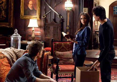 Damon&Elena and Ian&Nina wallpaper probably with a drawing room, a living room, and a drawing room entitled Ian&Nina