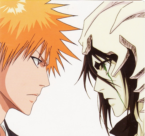animê bleach wallpaper with animê titled Ichigo and Ulquiorra