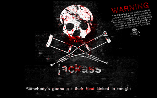 Jackass Logo and Warning
