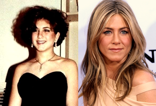 Jennifer Aniston - now & then