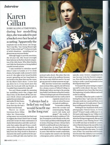 Karen Gillan Marie Claire Magazine 写真 shoot