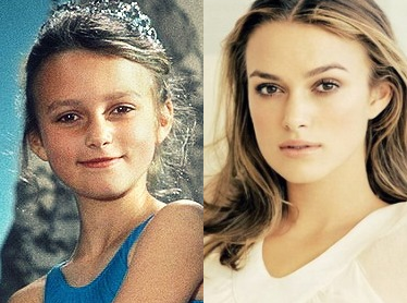 Keira Knightley - now & then