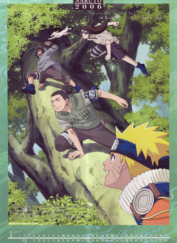 Kiba-Akamaru-Neji-Shikamaru-Naruto