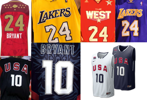 Los Angeles Lakers hình nền entitled Kobe Bryant Jerseys