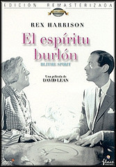 """Margaret Rutherford and Rex Harrison in """"Blithe Spirit"""" 1945"""