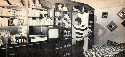 Michael in his room in parents' house