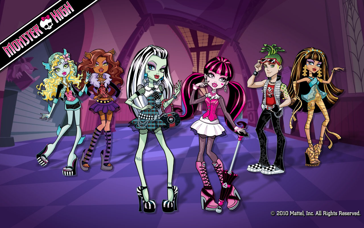 Monster High Group Wallpaper
