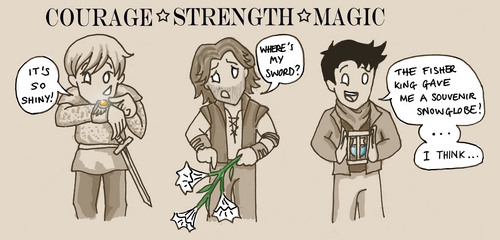 My edit of courage, strength and magic