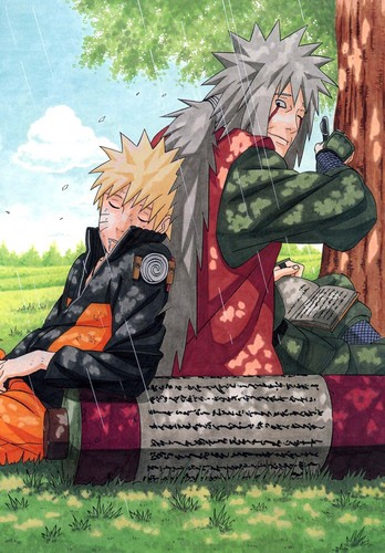naruto shippuden wallpaper entitled naruto and Jiraiya