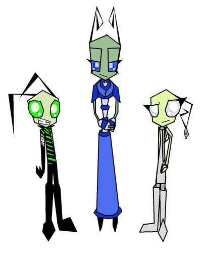 New OC's - Invader Sik, Tallest Ann, and Fast Еда Server Mist.