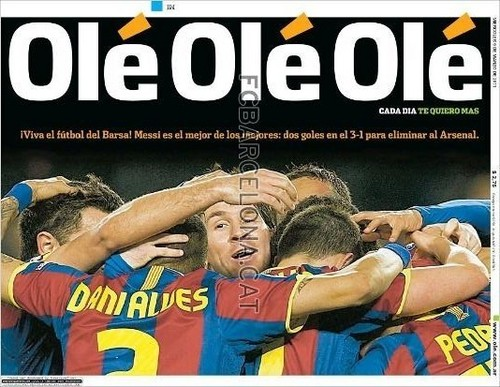 Newspapers praise Barca
