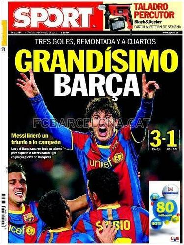 Newspapers praise Barca