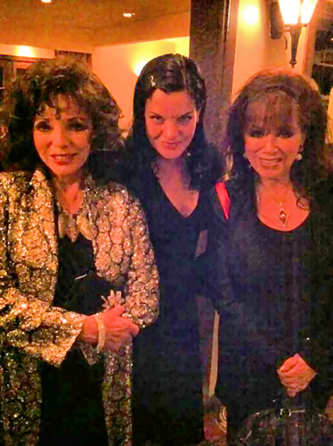 Pauley with Joan & Jackie Collins