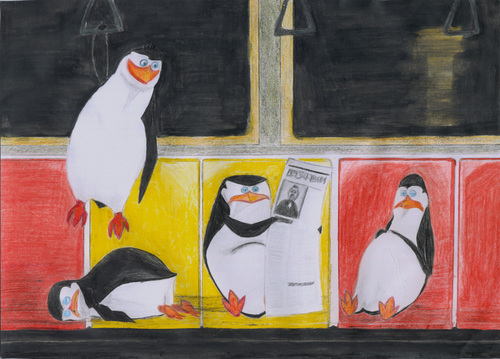 Penguins in the subway