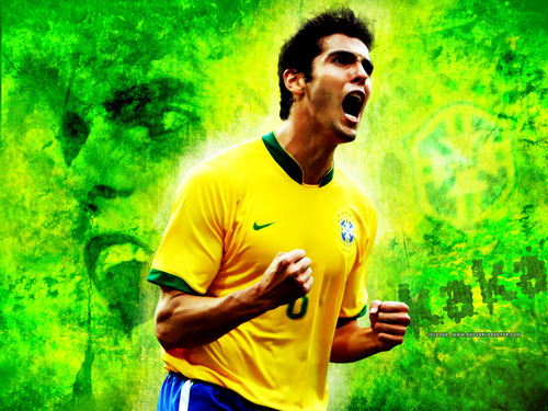 Cristiano Ronaldo and Ricardo Kaka wallpaper probably with a tennis player and a tennis pro entitled Ricardo Kaka