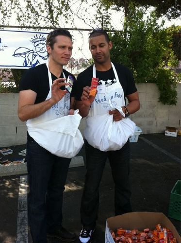 Seamus and Jon Feeding Homeless