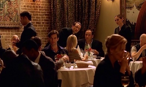 The Sopranos wallpaper containing a restaurant and a brasserie called Season 1 Episode 1