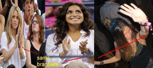 Shakira Xisca and Nuria same bracelets !!!!