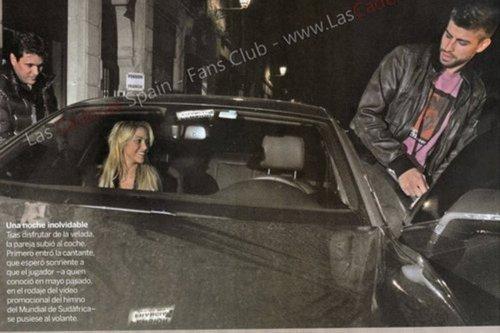 Shakira thrilled of Piqué