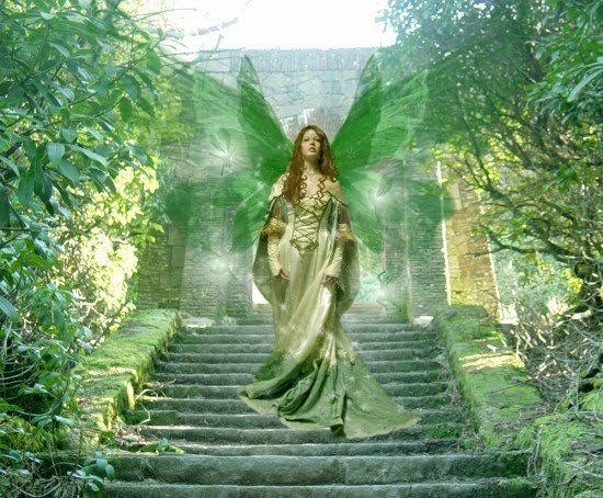 green angel in springtime - photo #4