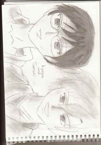 Tamaki + Kyoya pencil