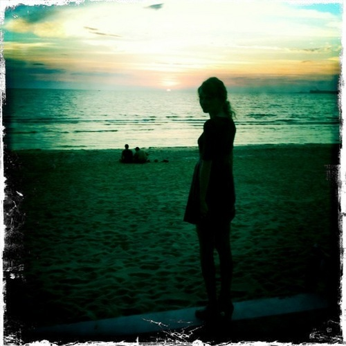 Taylor at the spiaggia