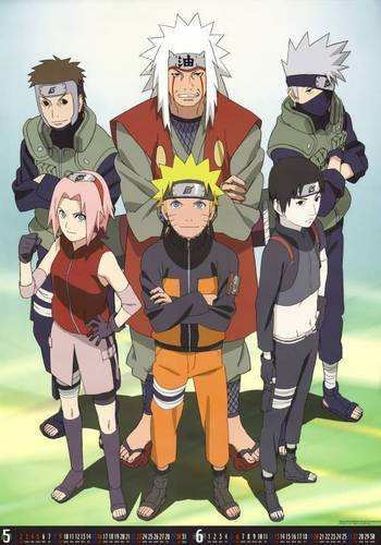 Team kakashi with Jiraiya