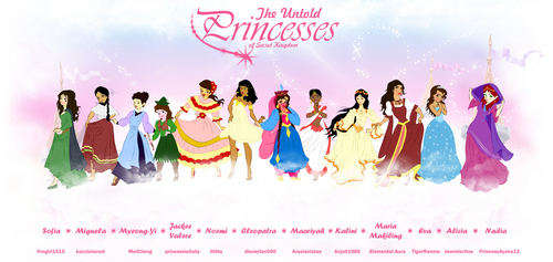 Disney Princess karatasi la kupamba ukuta called The Untold Princesses of Secret Kingdom