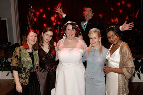 The girls at Phylis's wedding + Micheal in the background :))