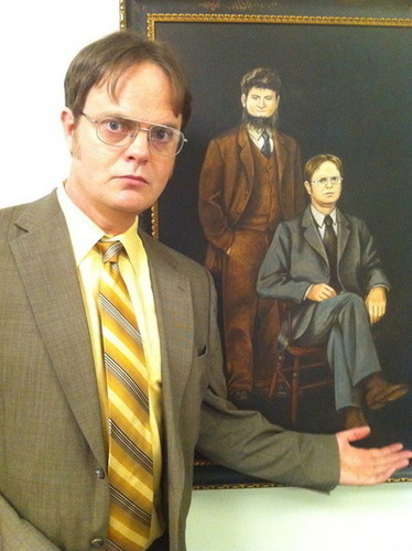 Dwight & Mose painting :))