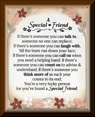 To My Special Friend Frances