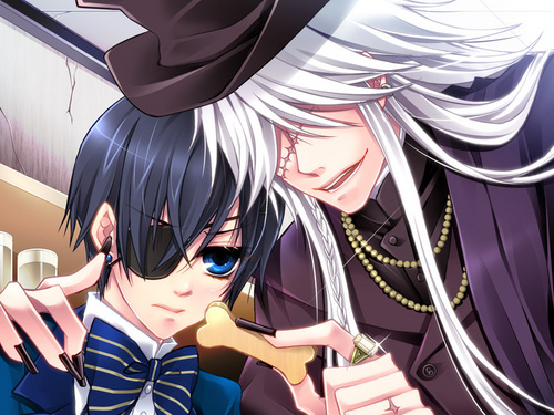 Kuroshitsuji wallpaper called Undertaker and Ciel