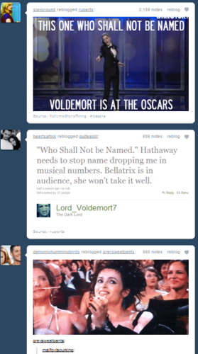 Voldemort is at the Oscars!