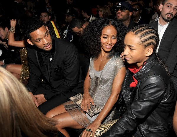 Will, Jada and Jaden at the grammys 2011