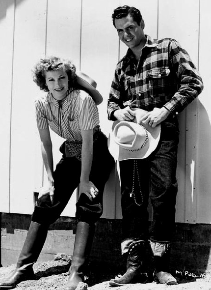 Young Lucy and Desi in western wear