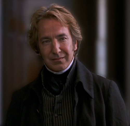Alan Rickman wolpeyper probably with a well dressed person and a portrait called alan rickman