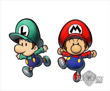 baby mario and luigi