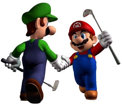 golf mario and luigi
