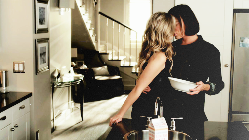 Hanna & Caleb wallpaper with a kitchen entitled hanna and caleb