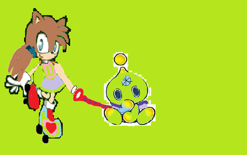hydro the hedgehog and a chao