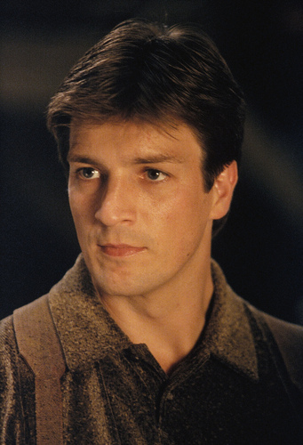 Nathan Fillion karatasi la kupamba ukuta probably with a portrait called nathan fillion