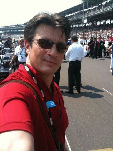 Nathan Fillion 바탕화면 containing a street, a carriageway, and a business district entitled nathan fillion