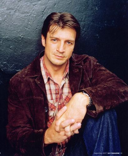 Nathan Fillion 바탕화면 probably containing an outerwear called nathan fillion