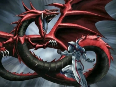 Yu-Gi-Oh wolpeyper called slifer vs neos