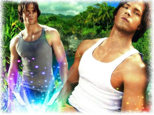 smokin hot sam - sam-winchester Wallpaper