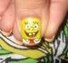sponge bob finger nail