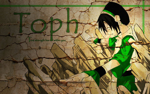 アバター 伝説の少年アン 壁紙 possibly with a sign and アニメ entitled toph_wallpaper_by_mentalstrike2-d31pywb.jpg